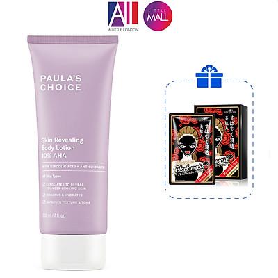 Kem dưỡng thể chứa 10% AHA Paula's Choice skin revealing body lotion 210ml TẶNG hộp mặt nạ Sexylook (Nhập khẩu)