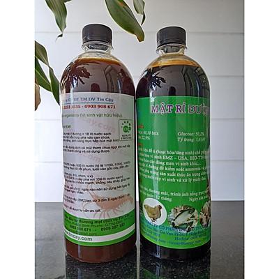 Combo 1 lít men vi sinh EM1 và 1 lít mật rỉ đường (Chế phẩm vi sinh EM gốc + mật rỉ đường 1 lít)