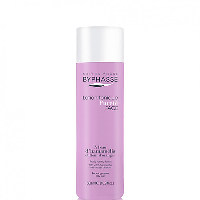 Nước Hoa Hồng Cho Da Dầu Byphasse Purity Toner Lotion Witch Hazel Water And Orange Blossom Oily Skin 500ml