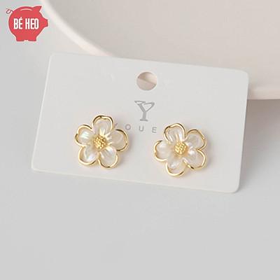 Bông tai hoa mai xinh xắn - Trang sức Bé Heo BHBT460