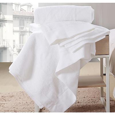Combo 3 Khăn tắm trắng khách sạn 50x100cm - 250GR Cao Cấp Cotton 100%