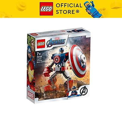 Đồ chơi LEGO SUPERHEROES Chiến Giáp Captain America 76168