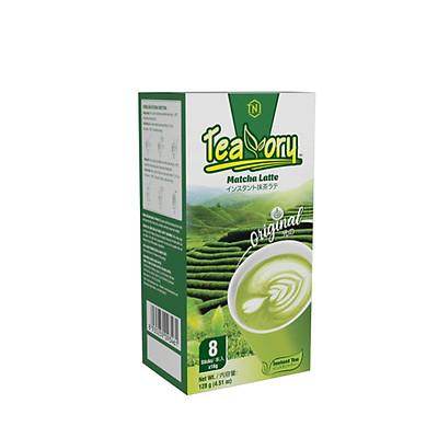 Trà Sữa Matcha Hòa Tan Teavory KINGCOFFEE - Hộp 8 gói x 16g.