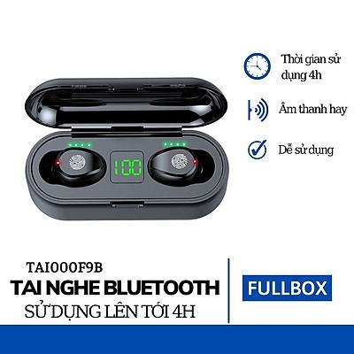 Tai Nghe Bluetooth Không Dây 5.0, AMOI F9, Cảm Ứng Vân Tay, Màn Led Báo Pin, Kháng Nước, Chống Ồn, Âm Thanh Cực Chất - Hàng Nhập Khẩu