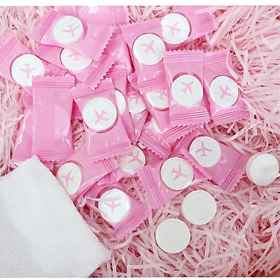 Combo 7 viên Khăn giấy nén du lịch nhỏ gọn, khăn nén hình viên kẹo dùng 1 lầnkhông kích ứng da siêu tiện lợi