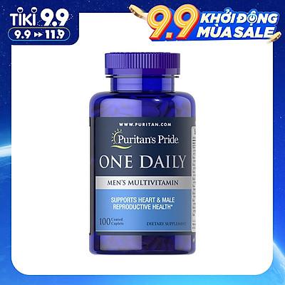 Thực Phẩm Chức Năng - Tăng Cường Sức Khỏe Cho Nam Giới Vitamin Và Khoáng Chất Puritan'S Pride One Daily Men'S Multivitamin (100 Viên)