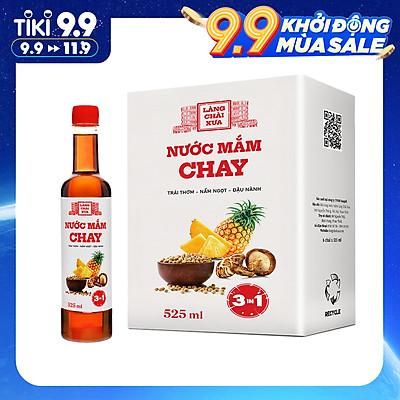 Nước mắm chay 3 trong 1 Làng Chài Xưa (01 chai) 525ml trái thơm nấm ngọt đậu nành 300 năm truyền thống