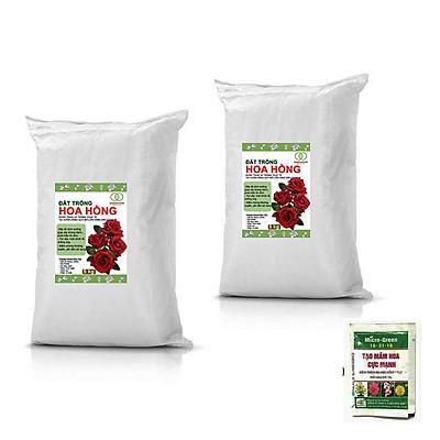 Bộ 2 Đất trồng hoa hồng -Đảm bảo các chất dinh dưỡng cho cây trồng-TẶNG KÈM 1 GÓI DƯỠNG KÍCH THÍCH RA HOA- 5 kg
