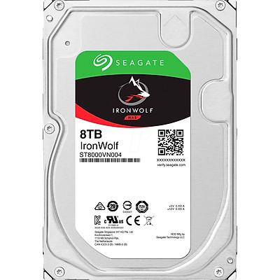 Ổ Cứng HDD NAS Storage Seagate IronWolf 8TB/256MB/3.5 7200RPM - ST8000VN004 - Hàng Chính Hãng