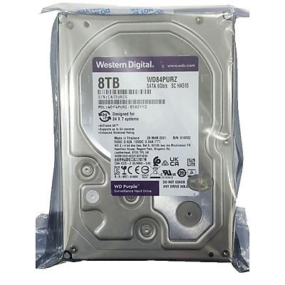 Ổ Cứng HDD Camera WD Purple 8TB ntelliPower - WD84PURZ - Hàng Chính Hãng
