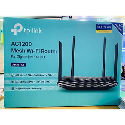 Router Wifi Băng Tần Kép TP-Link Archer C6 Gigabit AC1200 MU-MIMO - Hàng Chính Hãng