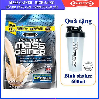 Sữa tăng cân, tăng cơ nhanh MuscleTech Premium Mass Gainer 12lbs (5,4kg) – Hỗ trợ tăng cân, tăng sức mạnh, phát triển cơ bắp dành cho người tập thể hình và thể thao - Bao bì mới - Hàng chính hãng Muscletech USA - Kèm quà tặng