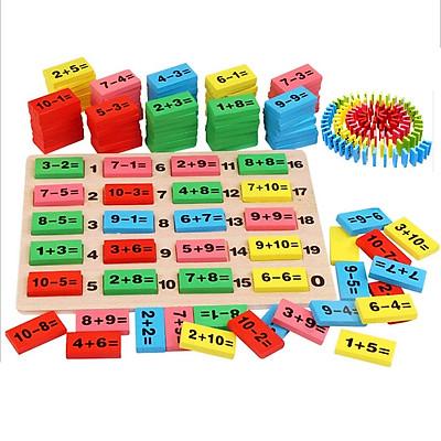 Đồ chơi gỗ Domino phép toán - Totdepre1124
