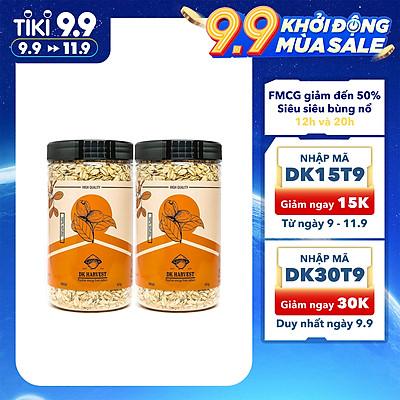 COMBO SIÊU TIẾT KIỆM - 2 Hũ Hạt Yến Mạch Cán Mỏng DK Harvest 450g