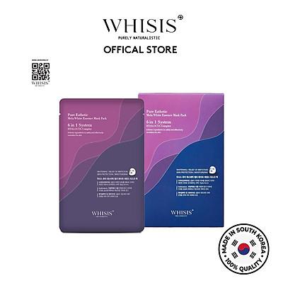 Hộp 10 Mặt nạ WHISIS Pure Esthetic Mela White Essence Mask Pack dưỡng trắng da cao cấp