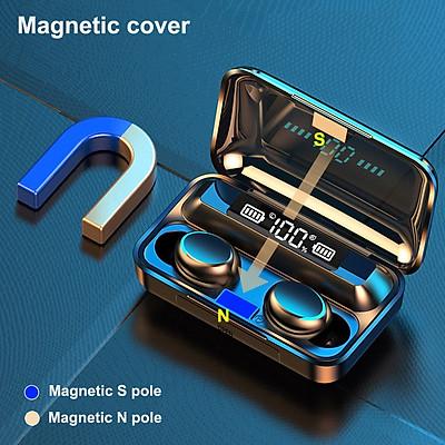 Tai nghe bluetooth Lanith F9 Pro 5.0 - Tai nghe nhét tai kết nối không dây phiên bản quốc tế - Âm bass êm và sâu, chip AIC chống gây chói tai - Thiết kế thời thượng, hiện đại - Hàng nhập khẩu - TAI0F9PRO