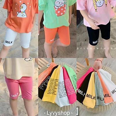 Lyvyshop - (Cotton SG chính phẩm) Quần legging lửng siêu dễ thương cho bé 09-23kg