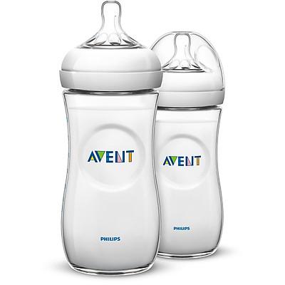 Bộ 2 bình sữa thiết kế mô phỏng tự nhiên Philips Avent 330ml SCF696/23