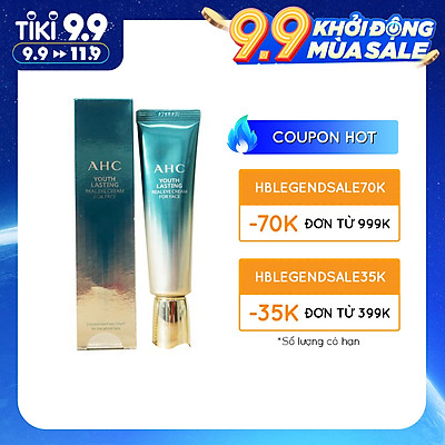 Kem Dưỡng Vùng Mắt AHC Ageless Real Eye Cream For Face mẫu mới 2021(30ml) Tặng kèm kẻ mắt nước Images