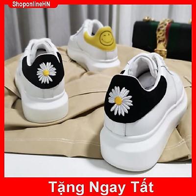 (full BOX) Giày nữ MCQ Hàng Quảng Châu gót hoa cúc đẹp rẻ ( Tặng Tất)