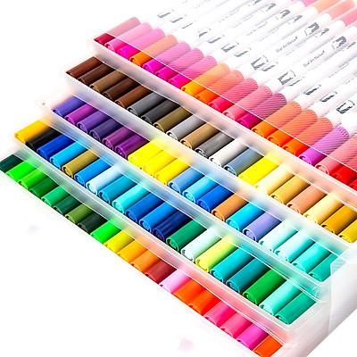 Bút tô màu nước 2 đầu - set 60 màu