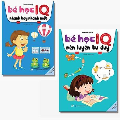 Sách - Combo 2 Cuốn Bé Học IQ Nhanh Tay Nhanh Mắt Và Rèn Luyện Tư Duy - Dành Cho Bé Từ 3 - 6 Tuổi