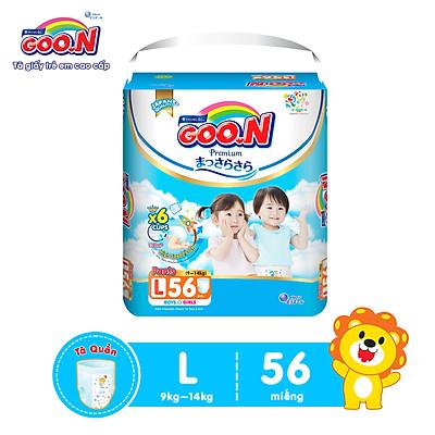 Tã quần Goon Premium gói siêu đại size L 56 miếng dành cho bé từ 9kg - 14kg