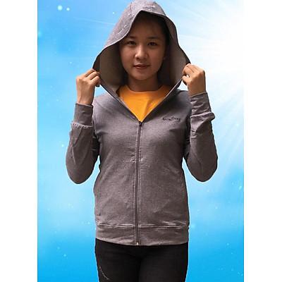 Áo khoác nữ chống nắng GOKING vải da cá 100% cotton dày, công nghệ Nhật Bản thoáng khí