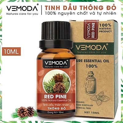 Tinh dầu Thông đỏ cao cấp. Redpine Essential Oil 10ML. Tinh dầu xông phòng giúp thư giãn, giảm căng thẳng, khử mùi, thanh lọc không khí, giữ ấm, giảm ho.Tinh dầu thơm phòng cao cấp Vemoda