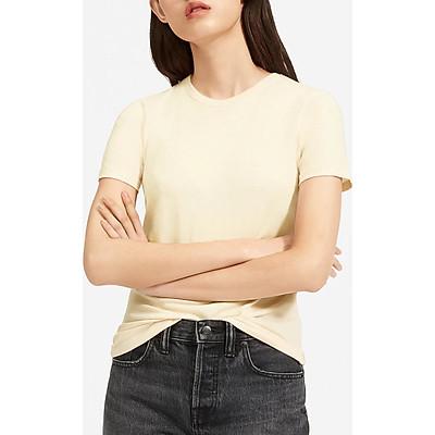 Áo thun nữ phông trơn Casual 1st cổ tròn tay ngắn cộc, vải 100% cotton cao cấp thoáng mát, thấm hút mồ hôi, form áo trẻ trung thích hợp đi làm, đi chơi, dạo phố, du lịch, Made in Vietnam