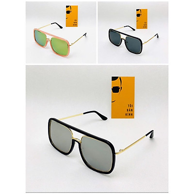 Kính mắt vuông thời trang du lịch dành cho Nam Nữ 1086, chống tia UV400