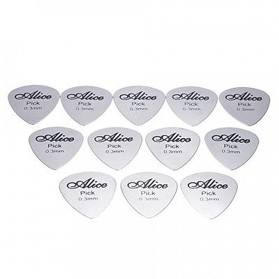 Bộ 12 Pick Gảy Guitar Thép Không Gỉ Alice AP-12S