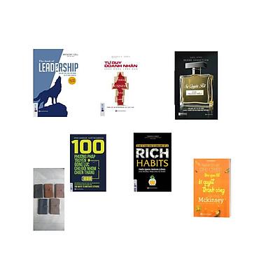 Combo combo 5 cuốn sách : + leadership dẫn dắt bản thân,đội nhóm và tổ chức vươn xa + Rich Habits thói quen thành công của những tự phú tự thân + Tư Duy Doanh Nhân Hành Động Lãnh Đạo + Sự Quyến Rũ Của Thương Hiệu + 100 Phương Pháp Truyền Động Lực Cho Đội Nhóm Chiến Thắng ( tặng cuốn mckinsey+sổ tay bìa gia doanh nhân ngẫu nhiên) )