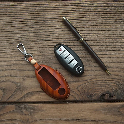 Vỏ bao chìa khóa N.i.s.s.a.n TEANA - da bò xịn - đồ da handmade DT442