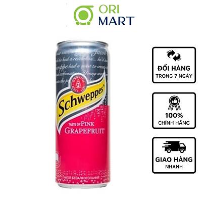 SchweppesTaste of Pink Grapefruit 330ml - Nước ngọt có ga hương vị bưởi đỏ SCHWEPPES 330ml