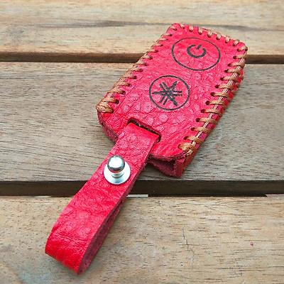 Bao da chìa smartkey Yamaha Handmade (Đỏ)