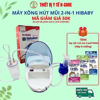 Máy xông hút mũi họng 2 trong 1 Dotha HiBaby, tạo khí dung xông mũi họng , hút sạch đờm nhớt mũi trẻ em - Hàng Việt nam sản xuất tại Hải phòng  - [TBYT H-Care]
