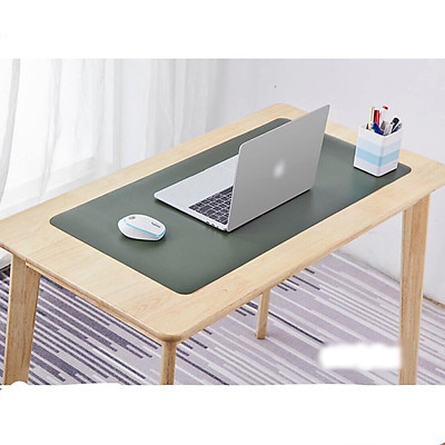 Deskpad kiêm tấm lót di chuột 90 x 45cm thảm trải bàn làm việc 2 mặt 2 màu