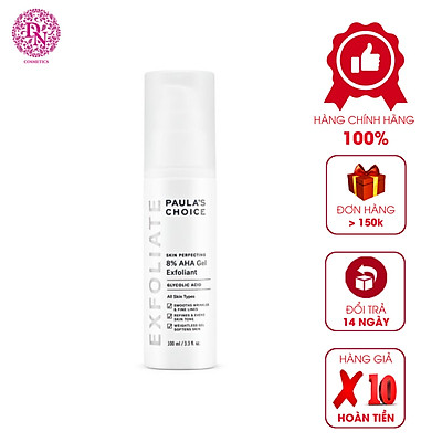Gel Tẩy Tế Bào Chết Mềm Mịn Paula's Choice Skin Perfecting 8% AHA Gel Exfoliant 100ML