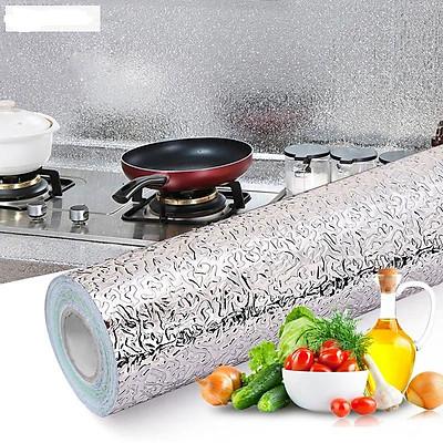 Giấy dán tường, dán bếp đa năng chống dầu mỡ, chống nước, tráng nhôm cách nhiệt tiện ích (3 Mét Dài x 0.6 Mét Rộng)