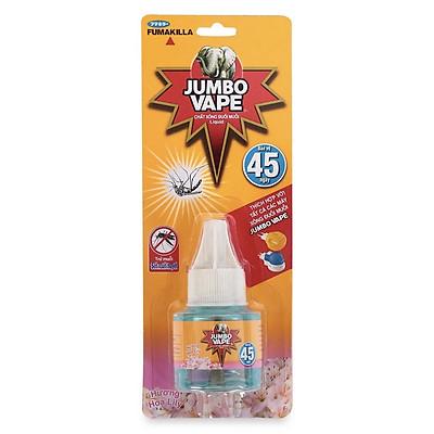 Chất Xông Đuổi Muỗi 45 Ngày Jumbo Vape Hương Hoa Ly (34ml)