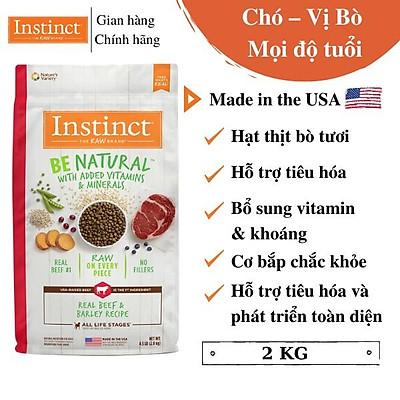 (Túi 2kg) Thức ăn cho chó từ thịt bò và lúa mạch Instinct Real Beef & Barley Recipe