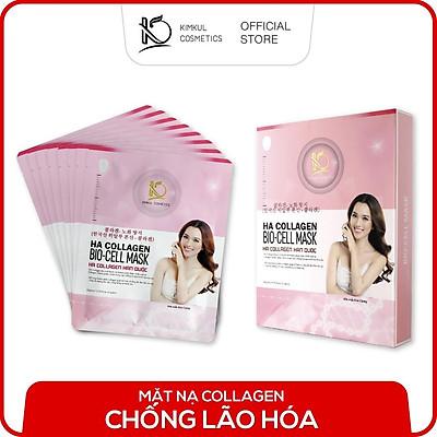 Hộp 8 Mặt nạ Collagen Hàn Quốc KimKul HA Collagen Bio-Cell Mask trắng da ngừa mụn chống lão hóa
