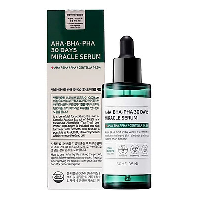 Tinh chất ngăn ngừa mụn Some By Mi AHA-BHA-PHA 30 Days Miracle Serum 50ml