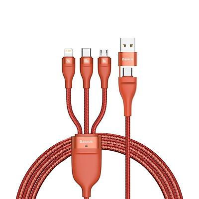Cáp sạc đa năng 6 trong 1 Baseus Flash Series Two-for-three Data Cable U+C to M+L+C 100W LV874-Hàng chính hãng.