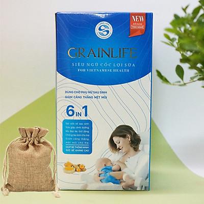 Combo Ngũ Cốc Siêu Lợi Sữa Grainlife 6IN1 Long Liên (500gr) + Túi Thơm Hạt Cà Phê Tự Nhiên Cho Phòng Ngủ Của Bé Luôn Sạch Mùi