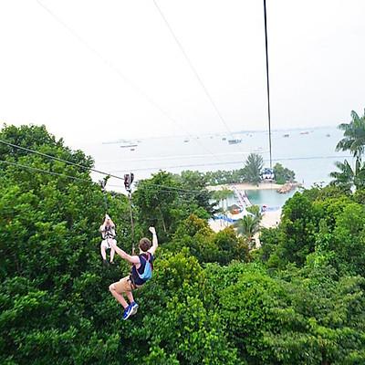 Vé Megazip Adventure Ở Sentosa Singapore