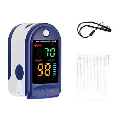 Thiết bị chăm sóc sức khỏe thông minh đo độ bão hòa nồng độ oxy trong máu và nhịp tim kẹp ngón tay nhỏ gọn, tiện lợi (Tặng kèm pin)