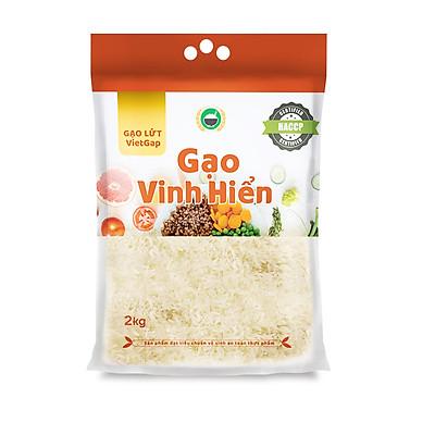 Gạo Lứt VietGAP Vinh Hiển - túi 2KG - dẻo mềm, thơm ngon, đạt chuẩn VietGAP
