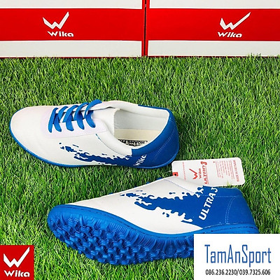Giày bóng đá Wika Ultra 3 ôm chân siêu bền,đinh TF khâu full đế, giày đá banh giày sân cỏ nhân tạo( tặng tất thể thao )